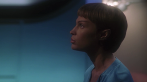 T'Pol asks why Daniels, or his colleagues, don't just sort it out. Archer says that Daniels had to go through a lot of clearance before interacting with NX-01, and he doesn't have time to go through the process again. Wait, what? You would think, getting someone totally outside of this agency would be even harder. Why am I even thinking about this. We all know it's just because Daniels isn't a main character. Added to this, Archer gets to pick one buddy to go back in time to earth with him, so naturally he chooses the person who is the most clueless about Earth