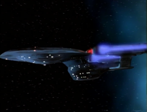 Then Enterprise C comes out of a time portal!