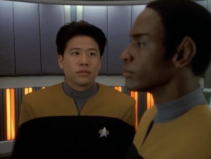 After Tuvok seeing Kim's reaction to the holodeck lady and after his complex explanations of everything Kim is going through, he just tells Kim that he probably should stay off the holodeck for a while