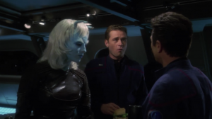 The Andorians help fix Enterprise. Talas and Reed don't really want to work together