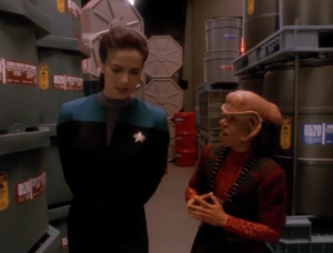 They have Nog count things to see if he's starfleet material