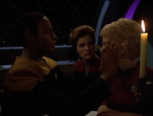 Janeway thinks she can get through to Kes, because she's magic, but it doesn't work