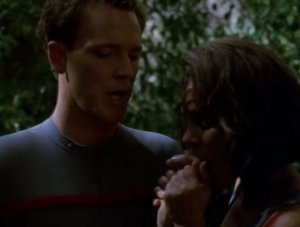 Eventually they decide that in order to save B'Elanna, Paris has to have sex with her