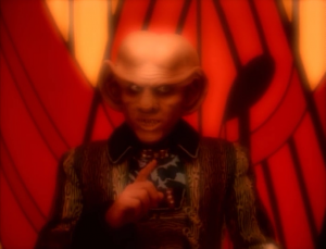 So Quark talks with the prophets and convinces them to change Zek back or else they'll have to talk to more Ferengis wanting to know what's going on