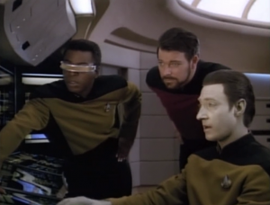 The research team goes to work, figuring out what really happened with Worf's father
