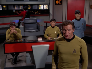 Kirk tries to talk to them
