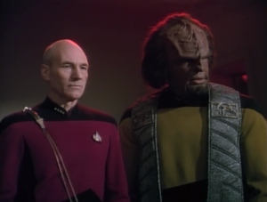 Worf says that he will die in order to save the Klingon Empire