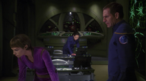 Through a flashback they explain how the captured Degra's ship. All the data on the ship was erased except for some personal information about Degra. Phlox has a way to make Degra loose some memory, and they plan on extracting information from him