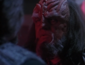 The head Klingon tells Worf to just forget about this whole thing and return to Starfleet