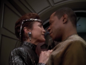 Sisko and O'Brien purposely get themselves captured, and Rom gets to the station as well, by pretending to be a snitch for the bad guys
