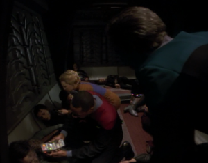 He also finds Sisko. He's Bashir's skill and professionalism