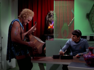 Spock gets along with one of them. They both play an instrument