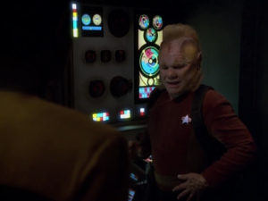 Neelix says it was actually just models of elevators that he used to work on. Again, throughout this whole episode, we're meant to side with Neelix and think that Tuvok is too hard on him