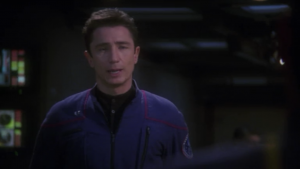 So he gets relieved of duty too. Then Archer orders Hoshi to send a distress signal to the Xindi-bugs so they can help the hatchery. That's suicide!