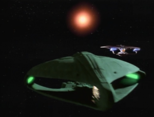 But the Romulans are racing to meet the alien first. The Federation and Romulans are competing for facebook friends