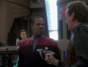 The mirror-universe version of O'Brien swings by the station and steals Sisko