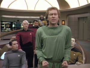 The Betazoid senses that the Romulans have orders to destroy the alien if they start off on the wrong foot. The Betazoid warns the alien