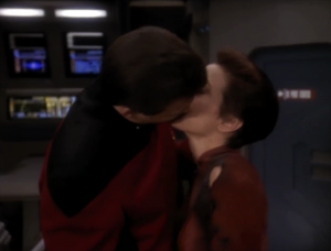 """In """"Defiant"""" Kira and Thomas Riker spend most of the episode hating each other, but then they kiss at the end"""