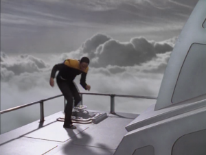 So Tuvok checks the rook, and there's some data pad