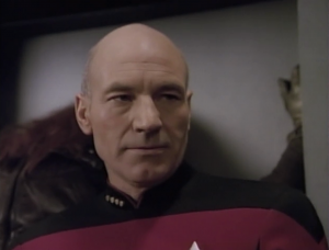 I liked that when Picard figures out that the Bolian is one of the captors, he just stares her down