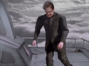 But then this guy pushes Tuvok!