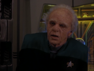 Finally Bashir goes to sickbay and does a thing that fixes everything