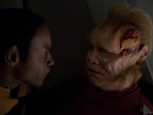 Neelix bumped his head so he needs a pep talk before he can go back to driving the elevator