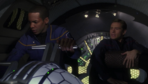 Travis and Trip take the the Xindi shuttle on a recon mission