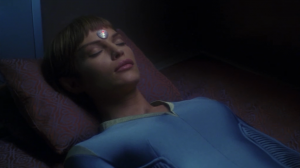 Phlox saves everyone and once they're out of the dangerous area, he starts waking people up. But then as he escorts T'Pol back to her quarters he finds that she's asleep!
