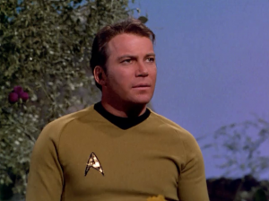 Kirk decided he wanted the Starfleet patch on the other side