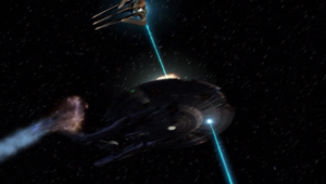 The episode ends with Enterprise coming under heavy attack. Dang. Things actually get pretty dire