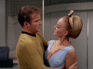 """In """"By Any Other Name"""" Kirk seduces his captor"""