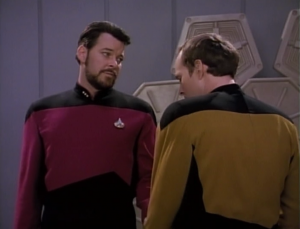 But outside the holodeck, he's shy