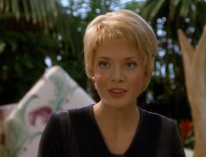 It's briefly mentioned that Kes and Neelix broke up. Um, alright