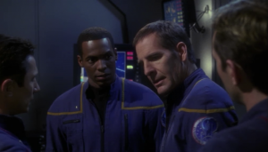 Someone has to fly the Xindi shuttle into the weapon and blow it up. It's a suicide mission. Archer says he has to do it. Later he explains that he didn't want to order anyone else to die