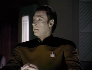 """Data wonders why calling Barclay, """"Broccoli"""" is considered a joke. We don't understand it either, Data"""