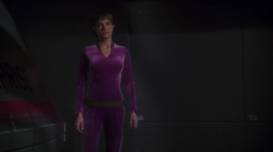 And then T'Pol is there