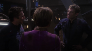 The warp drive gets wrecked in the fight with the Xindi. It can't be fixed unless they get a warp coil