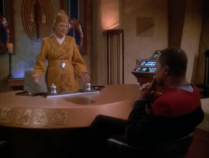 Shakaar is gaining supporters. Winn asks Sisko to have federation security bring in Shakaar. Why not just ask the federation for help in making more of the dumb farm equipment