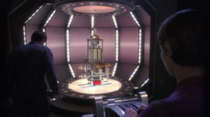 As the 2nd Enterprise tries to get away a fight breaks out and T'Pol starts beaming over parts of their ship