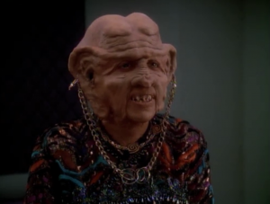 Ferengi society doesn't allow Moogie to make profit, even though she's really good at it. I thought we're supposed to hate how profit driven the Ferengi were, but I guess we should still root for her