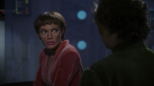 T'Pol goes to Phlox for help. She's addicted to the drugs. It's why she's been acting not very Vulcan-like