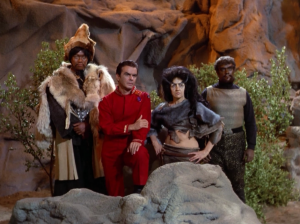 He also invited some famous villains from history: Genghis Khan, Col. Green, a lady named Zora, and Kahless