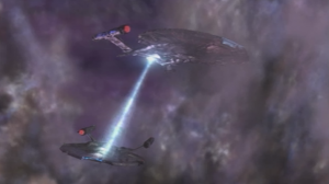 The 2nd Enterprise helps get them through the portal safely
