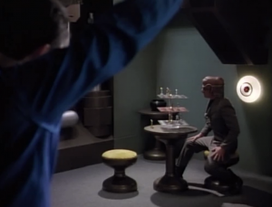 But don't worry. Riker has a plan to make fun of one of the Ferengi's chess skills