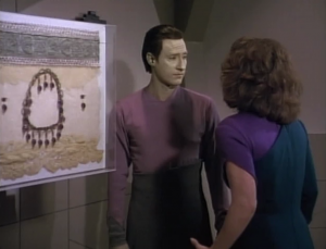 That lady wants to escape with Data