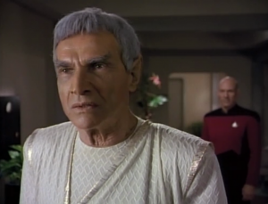 At first Sarek won't admit he has a problem, but Picard gets through to him