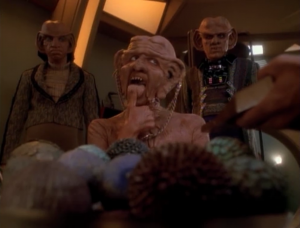 Moogie signs the confession, so quark won't be ruined