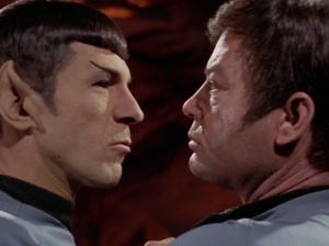 Spock and Bones fight!