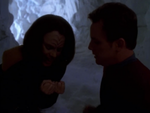 B'Elanna and Paris go to a cold place